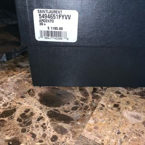 Saint Laurent ( Argento) size 39.5